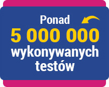 Ponad 5 000 000 wykonanych testów